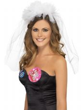 Bride To Be Hen Night Headband With Veil